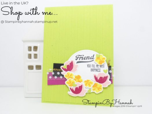 Pretty Bold Fun Floral Friendship card using Jar of Love from Stampin' Up!