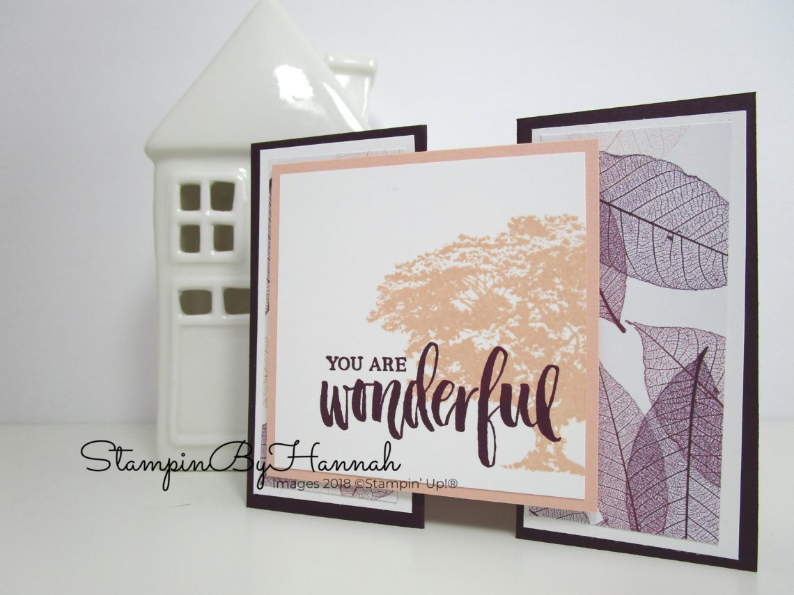 Fancy Fold Gate fold card video tutorial using Rooted in Nature and Designer Series Paper from Stampin' Up!