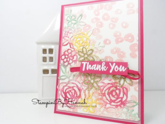 Fun Floral Thank You card using Springtime Impressions from Stampin' Up!