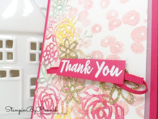 Go for Greece Blog Hop pretty floral card using Abstract Impressions from Stampin' Up!