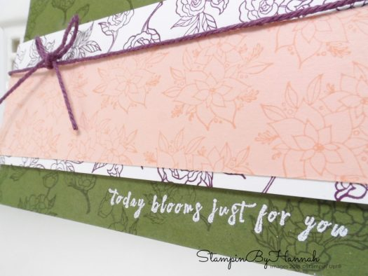 Inspire.Create.Challenges In Every Season Floral Thank You Card using Stampin' Up! products