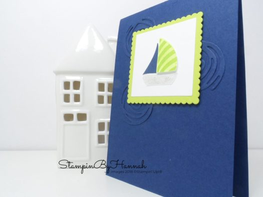 Children's Sail boat card using Swirly Bird from Stampin' Up!