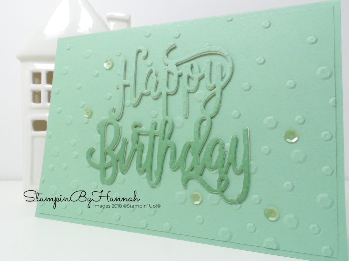 Big Birthday Card using Happy Birthday Thinlit from Stampin' Up! for the InspireINK blog Hop