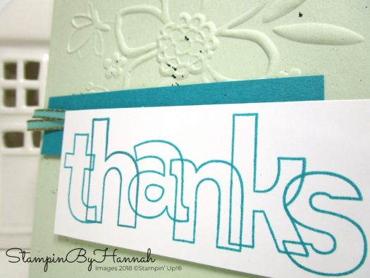 Make It Monday Stampin' Up! customer Thank You Cards using Alphabet Stamps