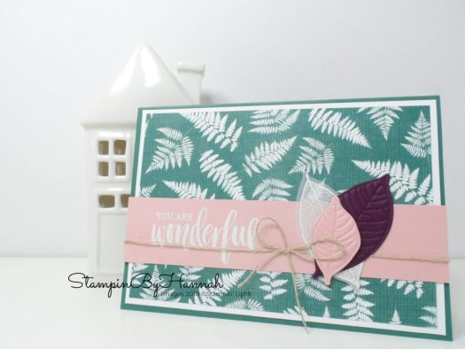 Make it monday Rooted in Nature Stampin' Up! Team Swap Card Video Tutorial