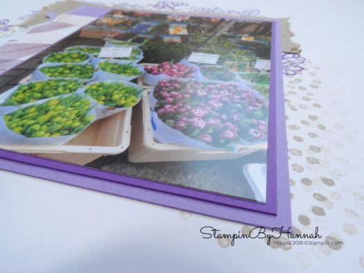 Petal Palette Scrapbook Page video tutorial using Stampin' Up! products