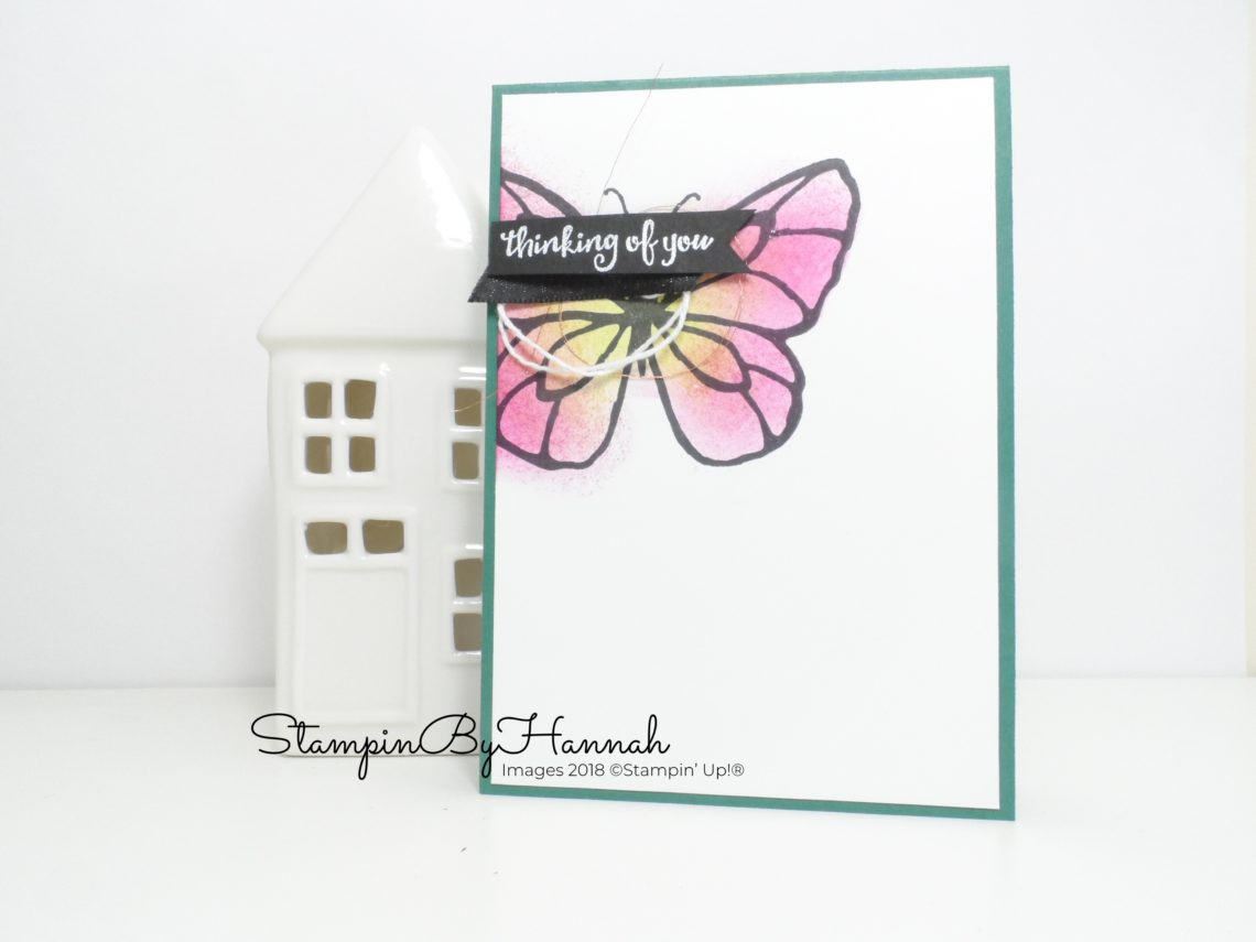 Thinking of you card using Beautiful Day from Stampin' Up!