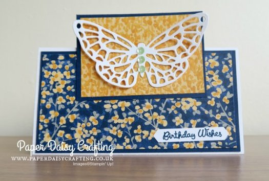 Fun Garden Impressions Birthday Card using Stampin' Up! Designer Series Paper from Jill Chapman