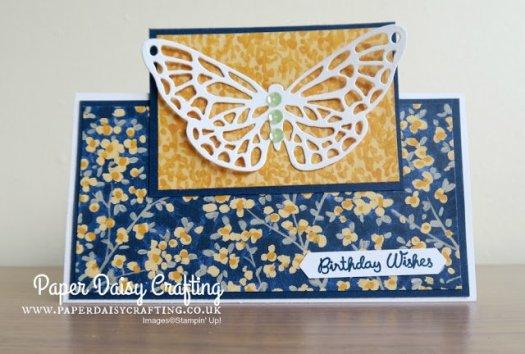 Fun Garden Impressions Birthday Card using Stampin' Up! Designer Series Paper from Jill Chapman