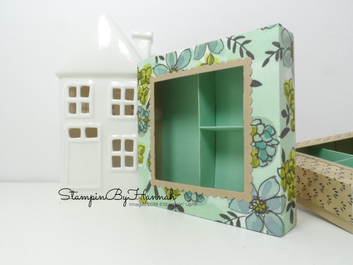 How to make a cute divided box for sweeties or stationary using Stampin' Up! Share What You Love Designer Series Paper