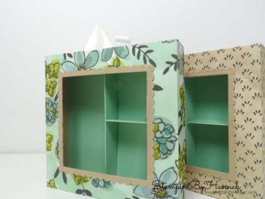 How to make a fun box with a cut out lid using Square Framelits and Designer Series Paper from Stampin' Up!