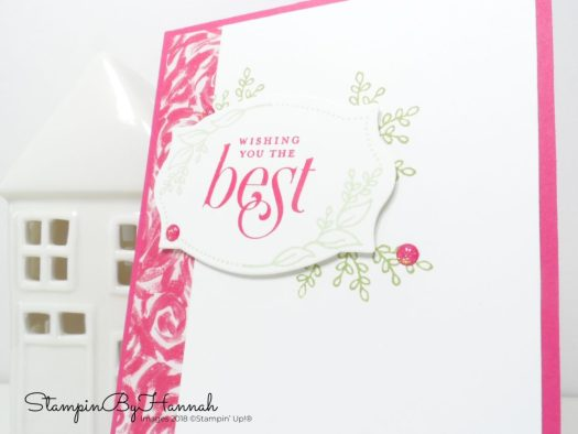 Best wishes card using Floral Frames from Stampin' Up!