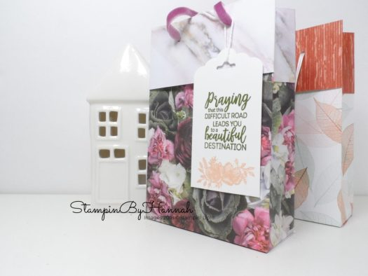 Folded Top Gift bag using Patterned Paper from Stampin' Up!
