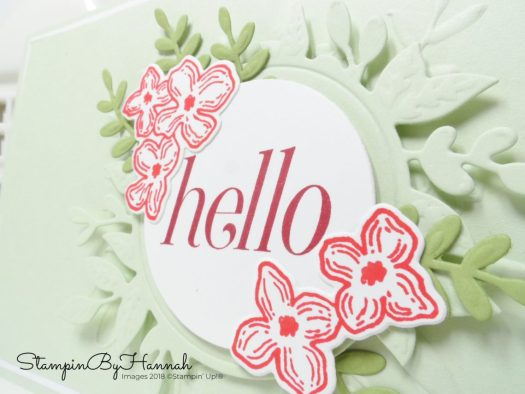 Fun die cut and embossed Hello card using Floral Frames from Stampin' Up!
