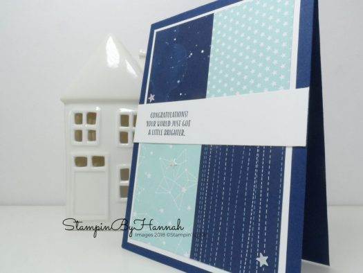 Blue Congratulations Card with stars using Twinkle Twinkle Designer Series Paper from Stampin' Up!