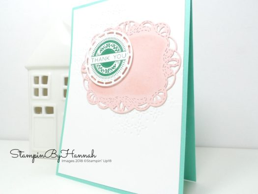 Inspire.Create.Challenge Thank You Card using Stitched Labels Dies from Stampin' Up!