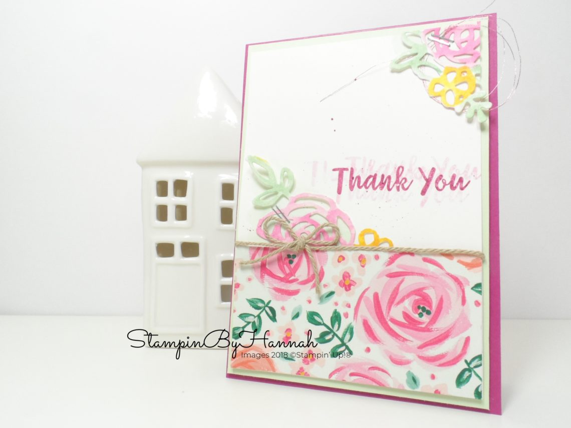 Inspire.Create.Challenges Stampin' Up! Challenge Blog Floral Theme