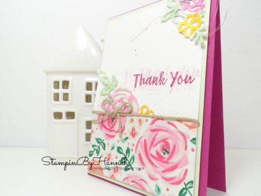 Abstract Impressions Thank You Card using Stampin' Up! products