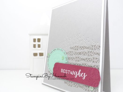 Embossing with cutting dies using the Stitched All Around Bundle from Stampin' Up!