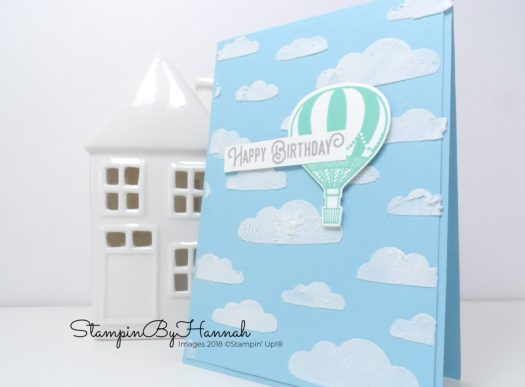 Hot Air Balloon Birthday card using Lift Me Up from Stampin' Up!