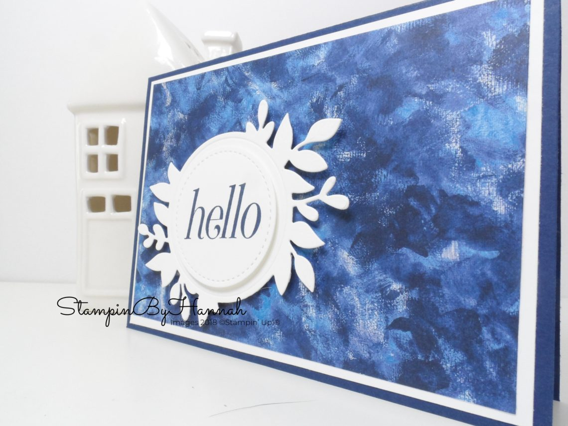 Hello Card using Floral Frames and Garden Impressions Designer Series Paper from Stampin' Up!