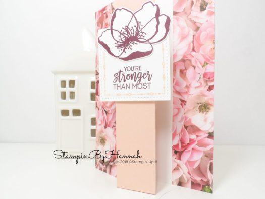 Quick and easy Z Fold card using Petal Promenade Designer Series paper from Stampin' Up!