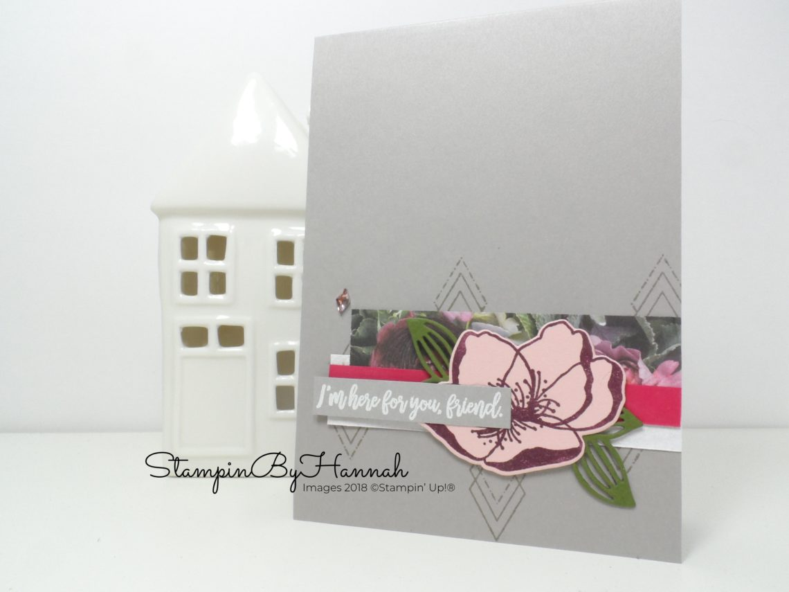 Make It Monday Simple card using Designer Series Paper with Petal Promenade from Stampin' Up!