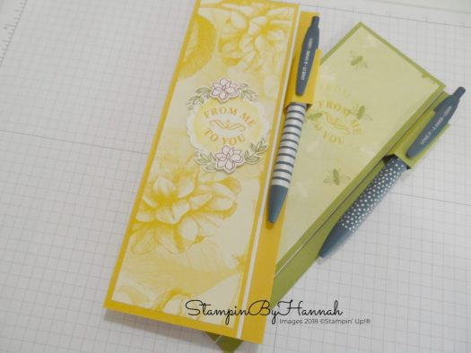 How to apply a cover to a jotter pad using Tea Room Designer Series Paper from Stampin' Up!