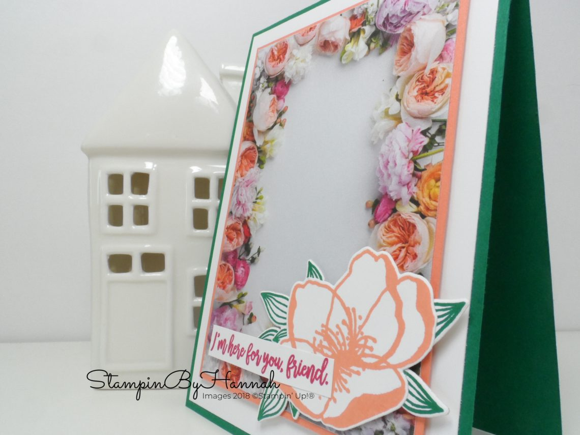 How to cut the Petal Promenade Designer Series Paper from Stampin' Up!