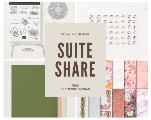 Petal Promenade Suite Share Stampin' Up! Craft Box cardmaking subscription box