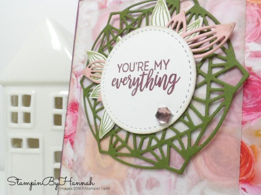 Pretty Vintage Floral card using Beautiful Promenade from Stampin' Up!