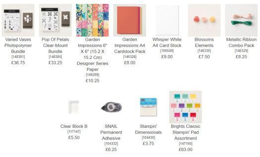 Stampin' Up! Sample Starter Kit Stampin' Pad Family Joining Offer Join Stampin' Up! UK