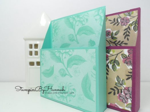 Embellishment storage using Share What You Love Designer Series Paper from Stampin' Up!