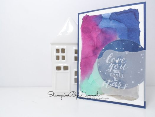Watercolour Valentines card using Little Twinkle from Stampin' Up!