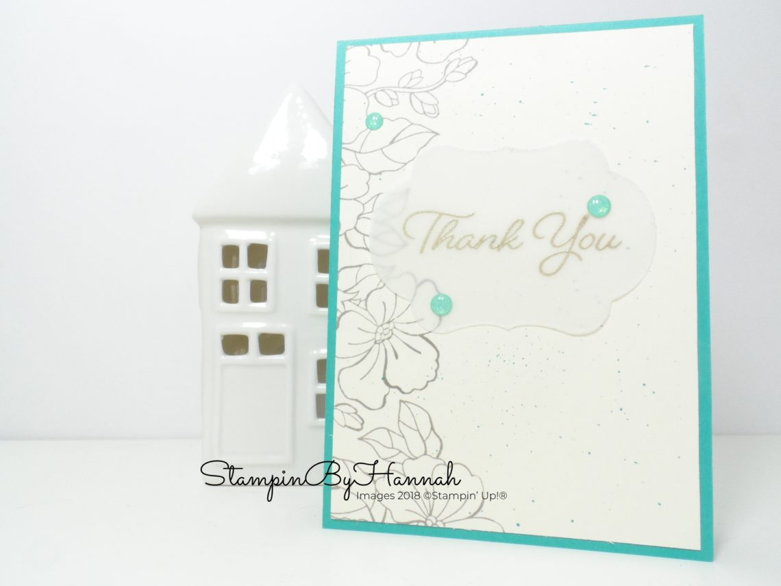 Thank You card using Blended Seasons from Stampin' Up!