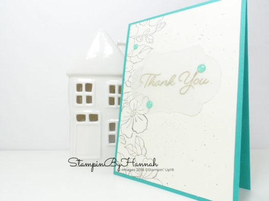 Subtle Thank you card using Blended Seasons from Stampin' Up!
