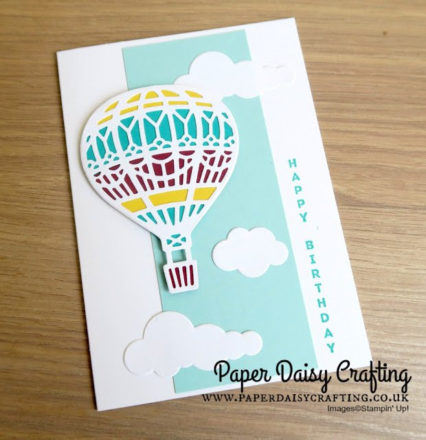 Bright and Fun Hot Air Balloon Birthday Card using Stampin' Up! Products by Jill Chapman