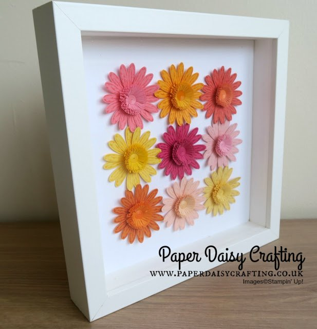 Fun Daisy Home Decor Frame using Daisy Delight from Stampin' Up! with Jill Chapman