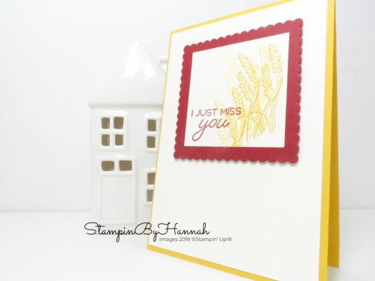 Pretty Autumn Miss you card using Blended Seasons from Stampin' Up!