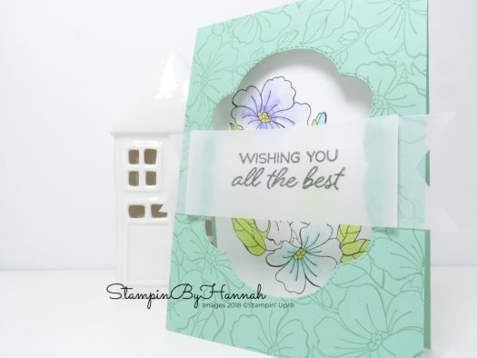 Window cut out card using Blended Seasons from Stampin' Up!