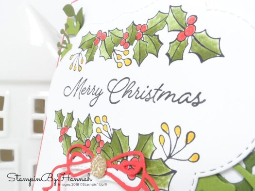 Merry Christmas Card using Blended Seasons from Stampin' Up!
