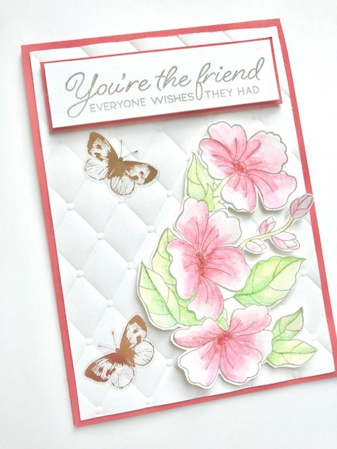 Pretty Floral Friend Card using Colour Your Season from Stampin' Up! by Amanda Charlesworth