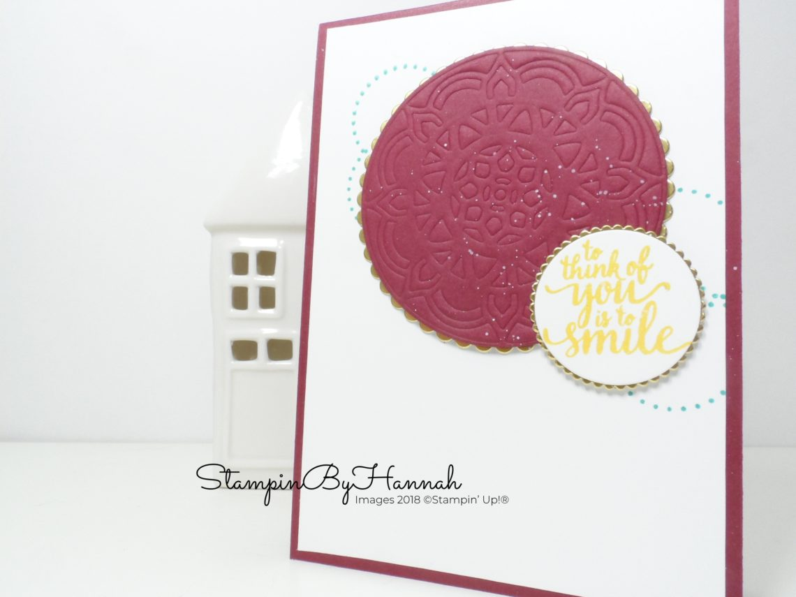 An eastern inspired card using Eastern Beauty from Stampin' Up!