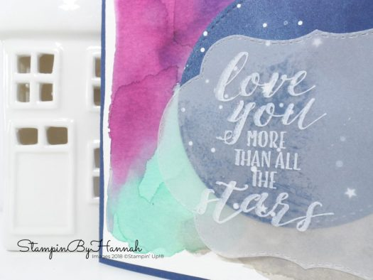 Anniversary card using Little Twinkle from Stampin' Up!