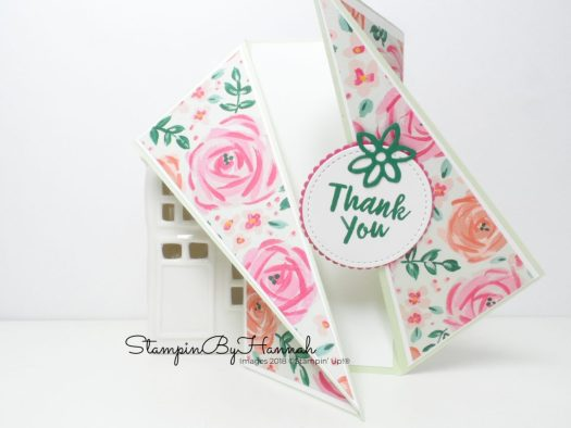 How to make a twisted gate fold card using Garden Impressions from Stampin' Up!