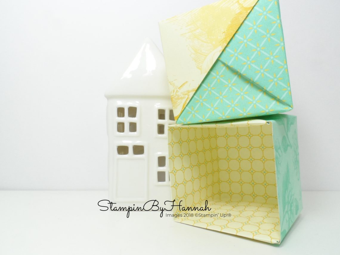 no glue pot covers using patterned paper from Stampin' Up!