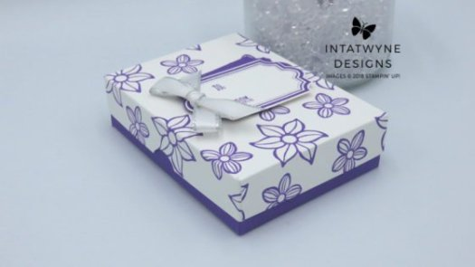 How to make a pretty box for a necklace using Stampin' Up! products with Intatwyne Designs