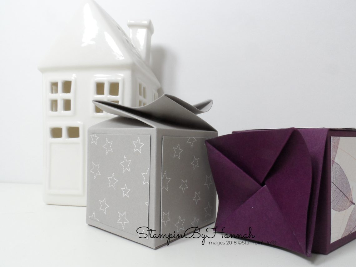 How to make a Twist Top Box using Stampin' Up! Card stock
