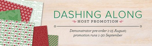 Stampin' Up! Dashing Along FREE Designer Series Paper