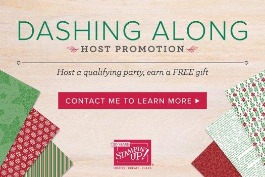Stampin' Up! Dashing Along FREE Designer Series Paper